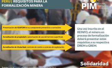 PERÚ | Requisitos para la formalización minera